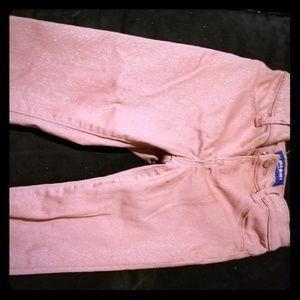 Pink glitter Jean's nwot
